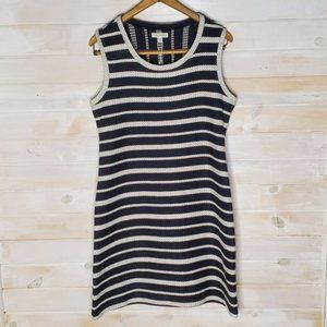 Max Studio Dress Knit Chunky Embroidered S…